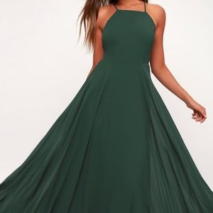 Mythical Kind of Love Dark Green Maxi Dress